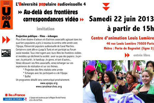 affichette rencontres upopa 2013